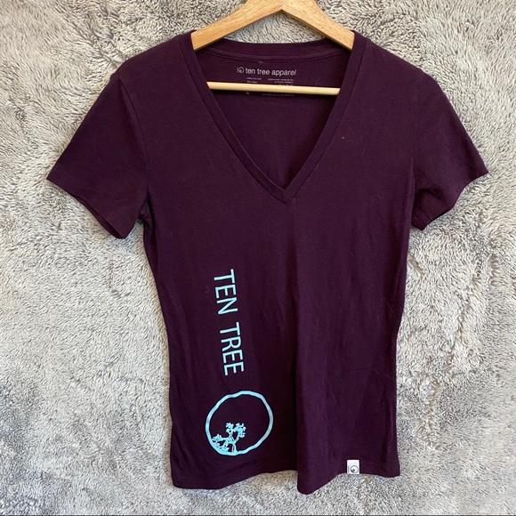 Ten Tree V Neck  T Shirt